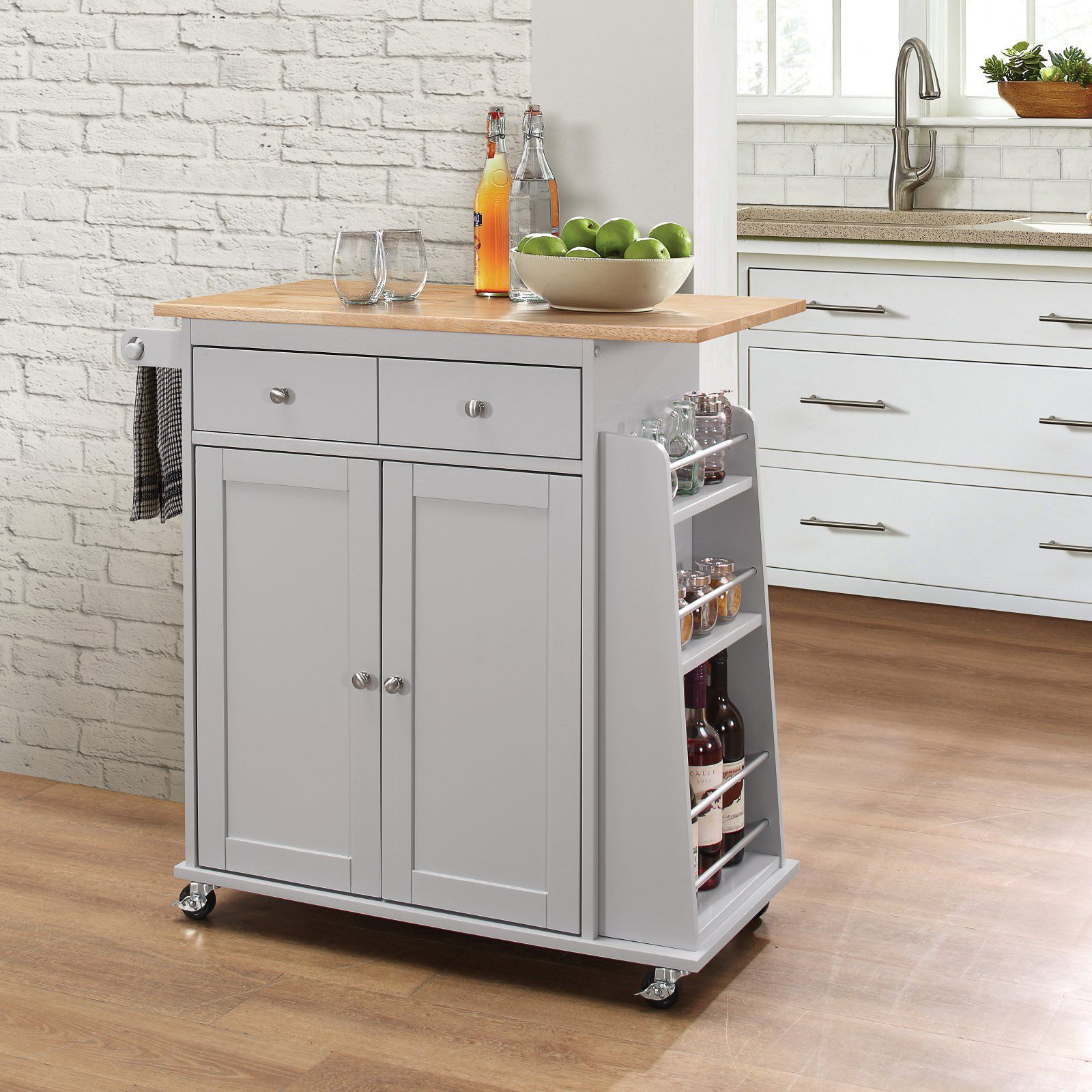 Acme Furniture Tullarick Portable Kitchen Island Cart
