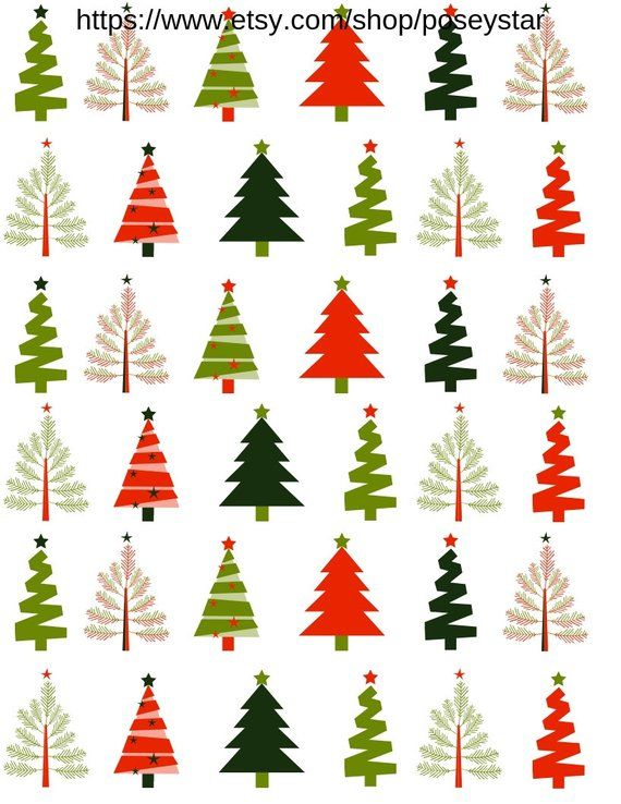 printable winter holiday gift tags and wrapping paper christmas tree rh pinterest com