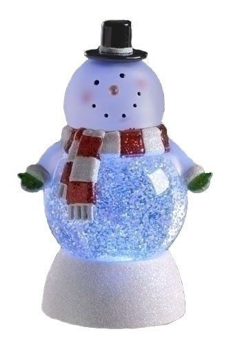 7 Quot Led Lighted Color Changing Snowman Christmas Swirl Glitterdome Listi Christmas Snow Globes Led Color Changing Lights Decorating With Christmas Lights