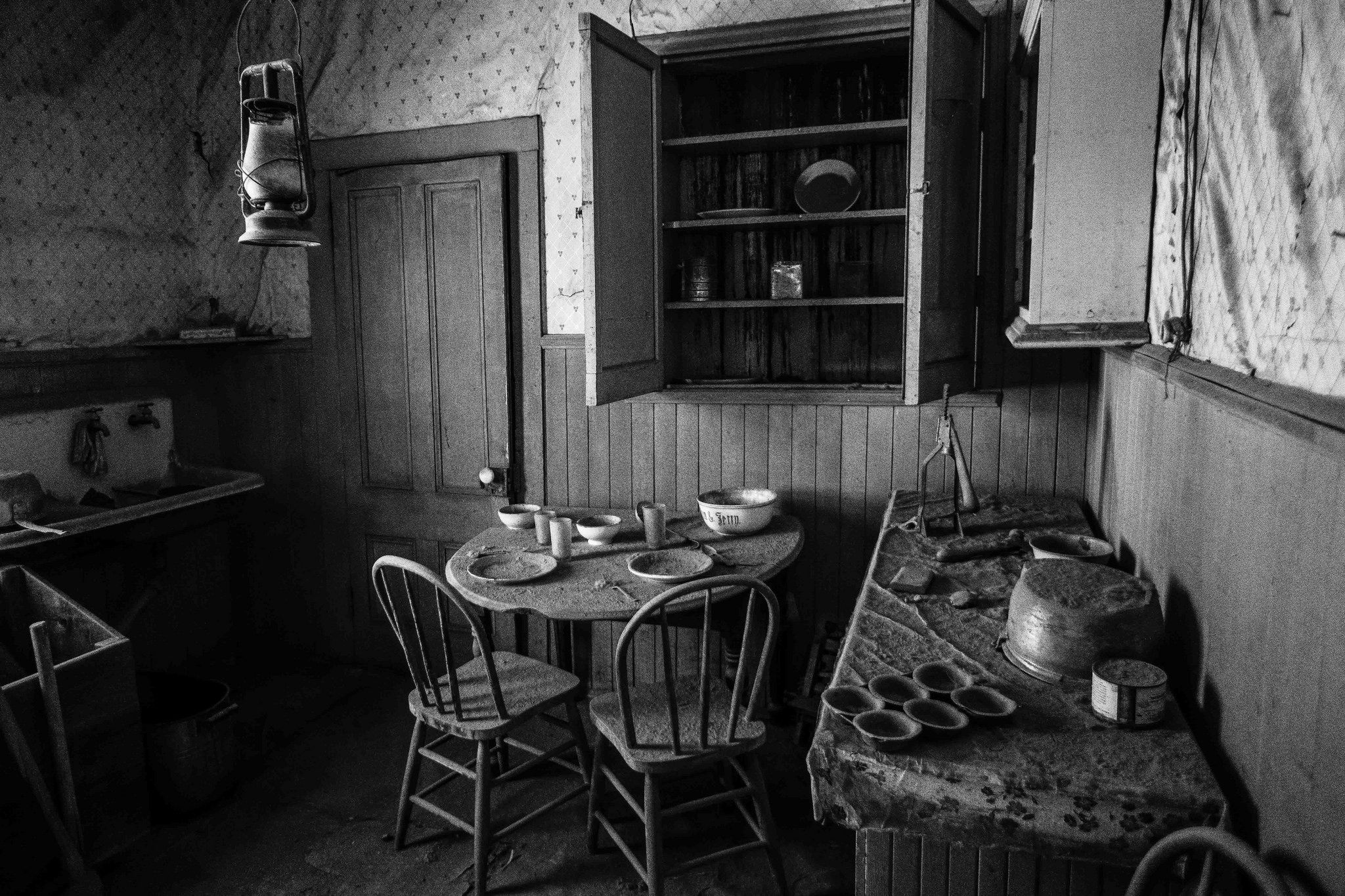 https://flic.kr/p/urkFq2 | Bodie Home- Interior | Many homes were left as is, as the occupants left.
