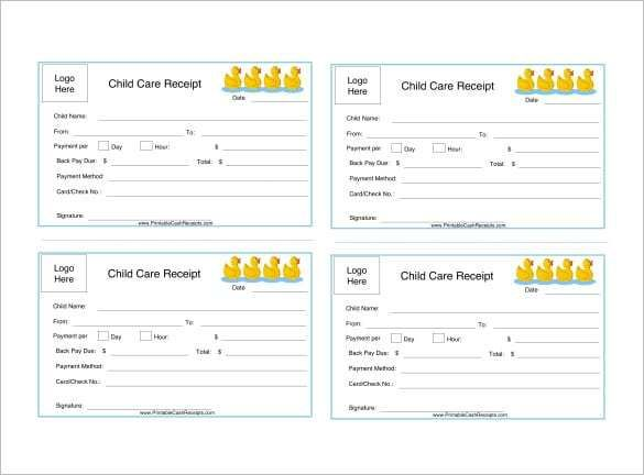 Explore Our Free Dependent Care Fsa Nanny Receipt Template Receipt Template Receipt Child Care Services