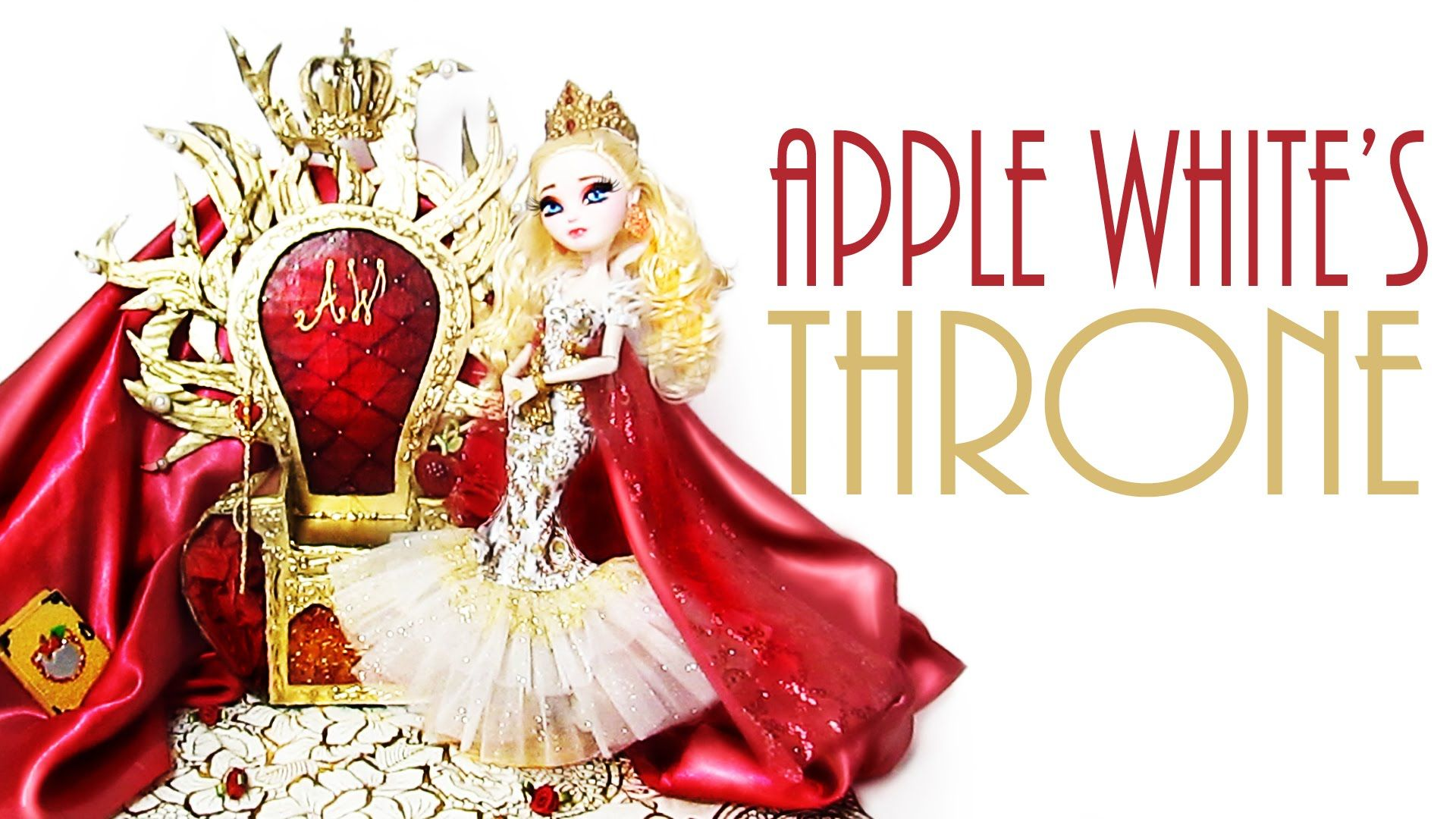 How To Make Apple White S Throne Ever After High Apple White Ever After High Custom Dolls