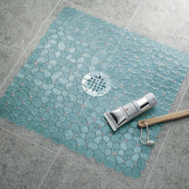 Pebble Shower Mat Blue Bathroom Wish List Pinterest