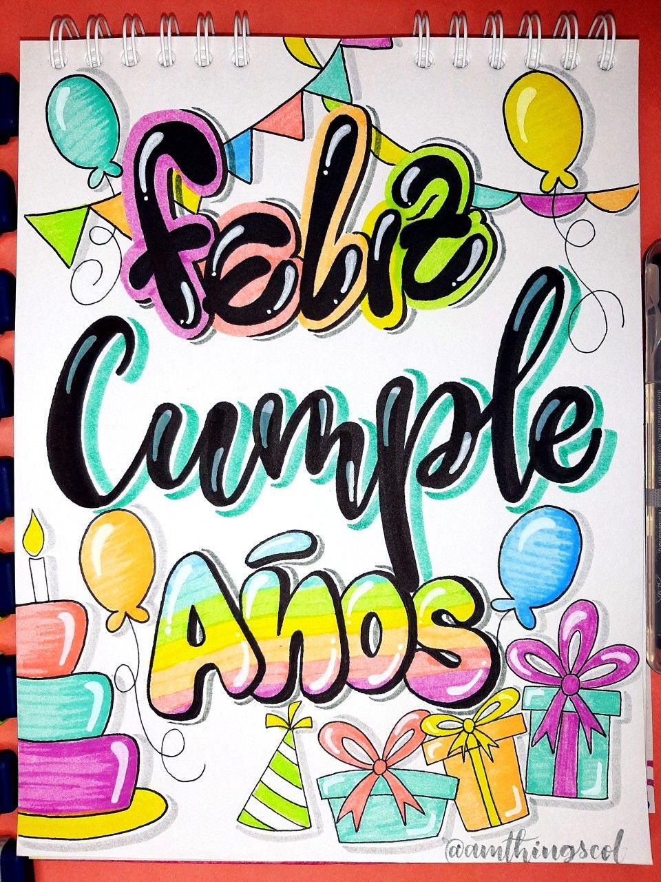 Tarjeta De Cumpleaños Patrones De Letras Moldes De Letras Plantillas De Letras