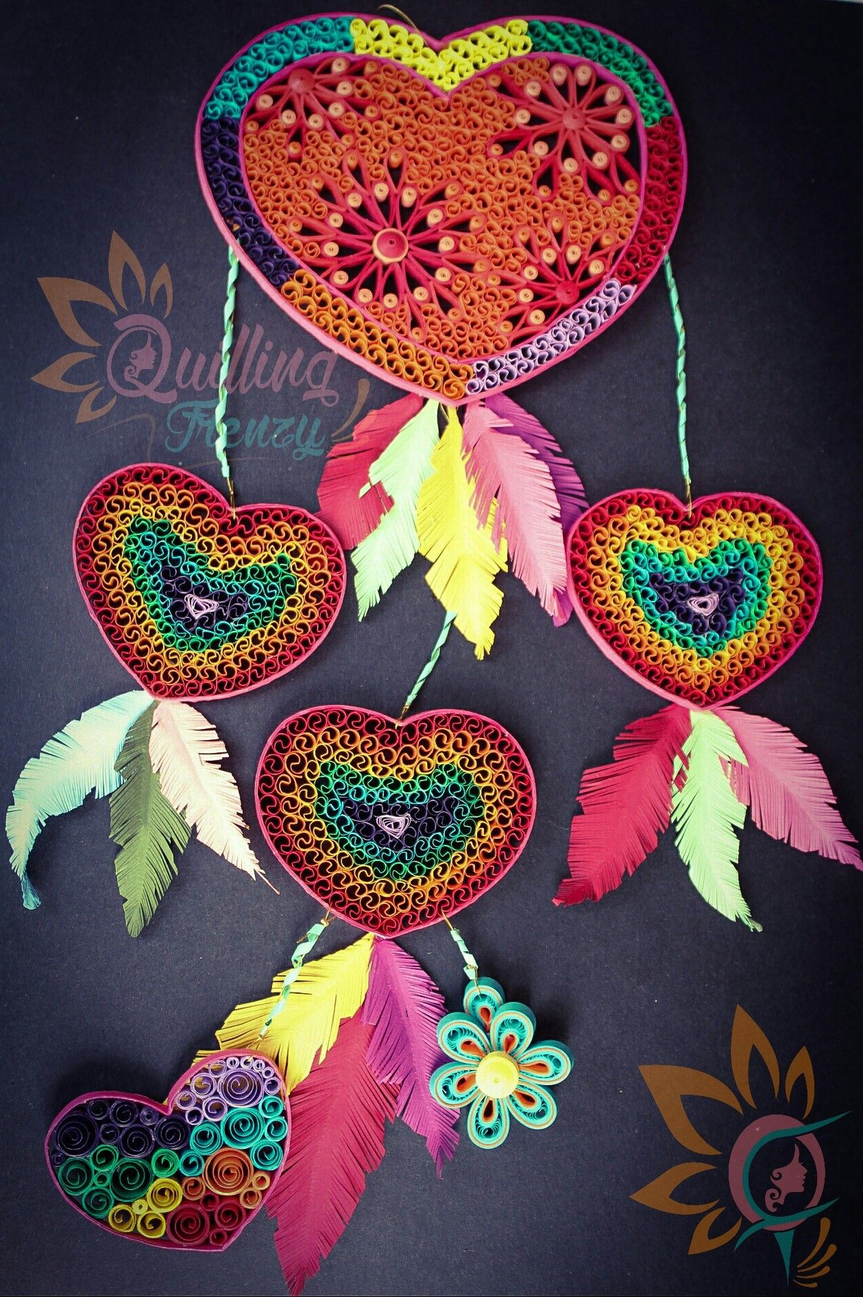 Quilled Heart Dream Catcher Made For A Contest Lets Hope