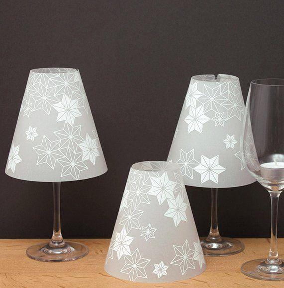 Wohndesign Deutschland Die Klassiker: The STERNENHELENE-3 Wine Glass Lampshades