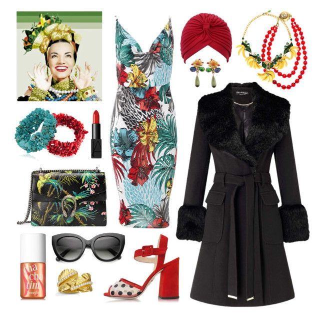 """""""Undercover Carmen"""" by inspiredsara ❤ liked on Polyvore featuring TEM, Charlotte Olympia, Chanel, Bling Jewelry, Gucci, Dolce&Gabbana, Miss Selfridge, Benefit, NARS Cosmetics and ZeroUV"""