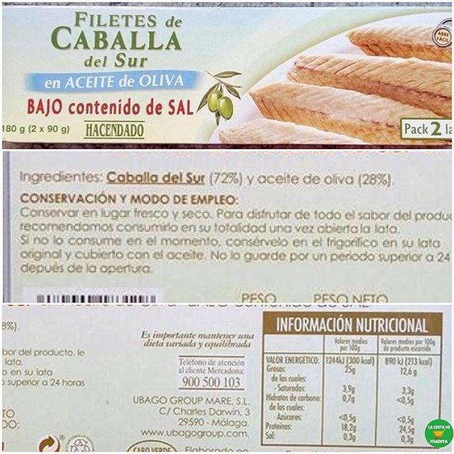 Filetes De Caballa En Aceite De Oliva Bajo Contenido En Sal De Hacendado Supermercado Mercadona Comida Fitness Recetas Comidas Fitness Comida