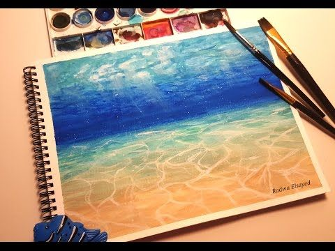 Simple Watercolor Underwater Scene Painting Tutorial Youtube