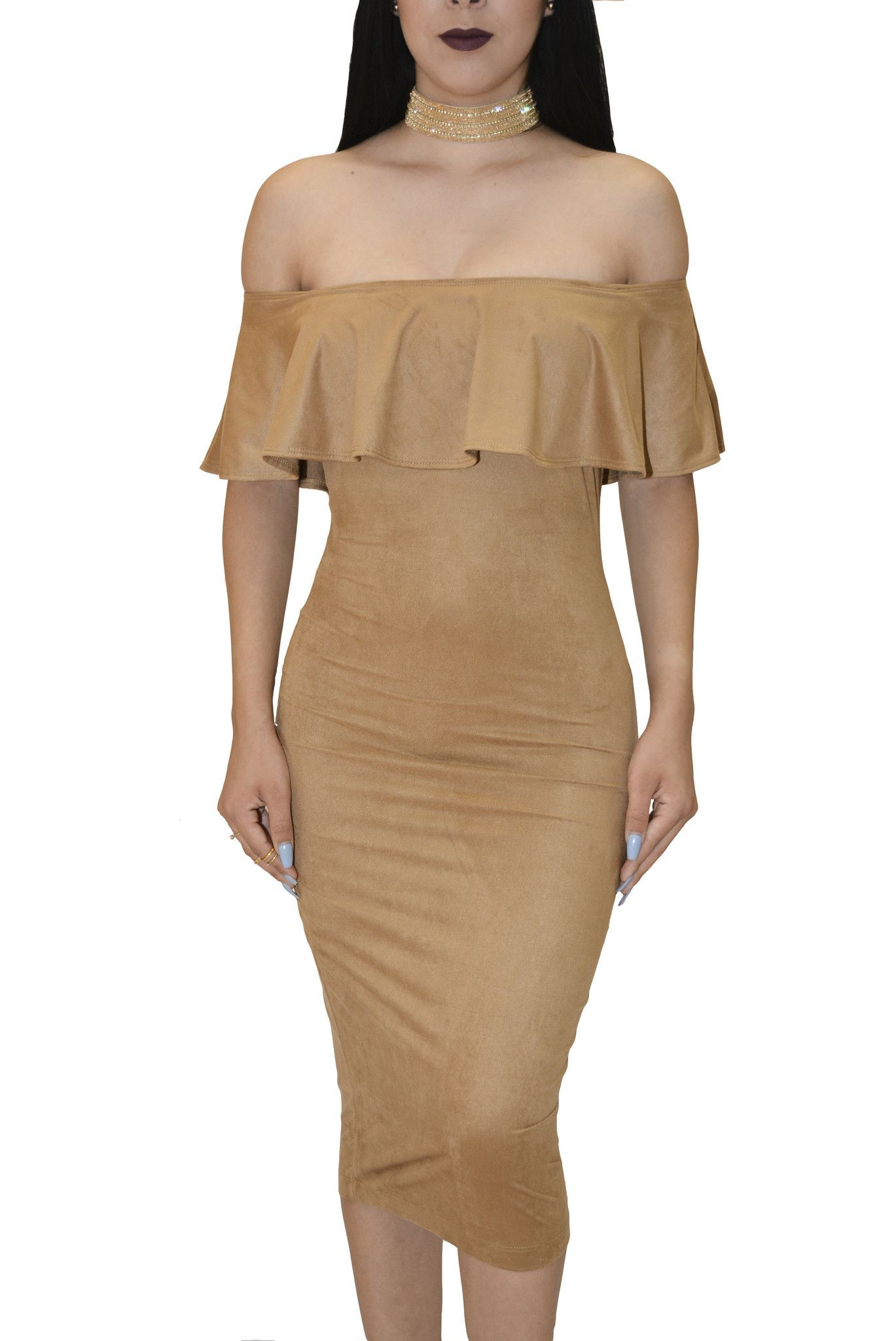 Maria beige off shoulder dress products pinterest shoulder