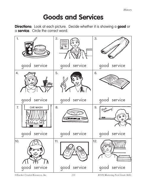 12 Grade Social Studies Worksheets : Goods and services google search stuff to buy