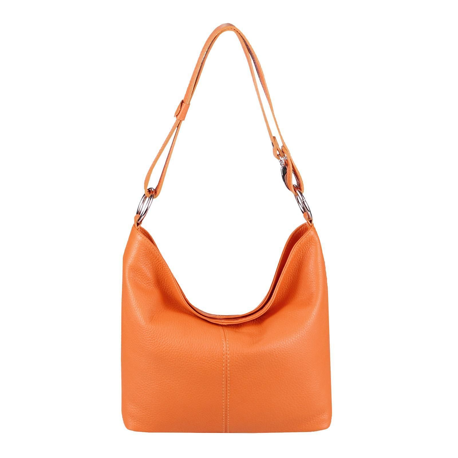 1769e228c6f9c Made in Italy Echt Leder Damen Tasche Shopper Hobo Bag Ledertasche Schultertasche  Umhängetasche Handtasche Henkeltasche