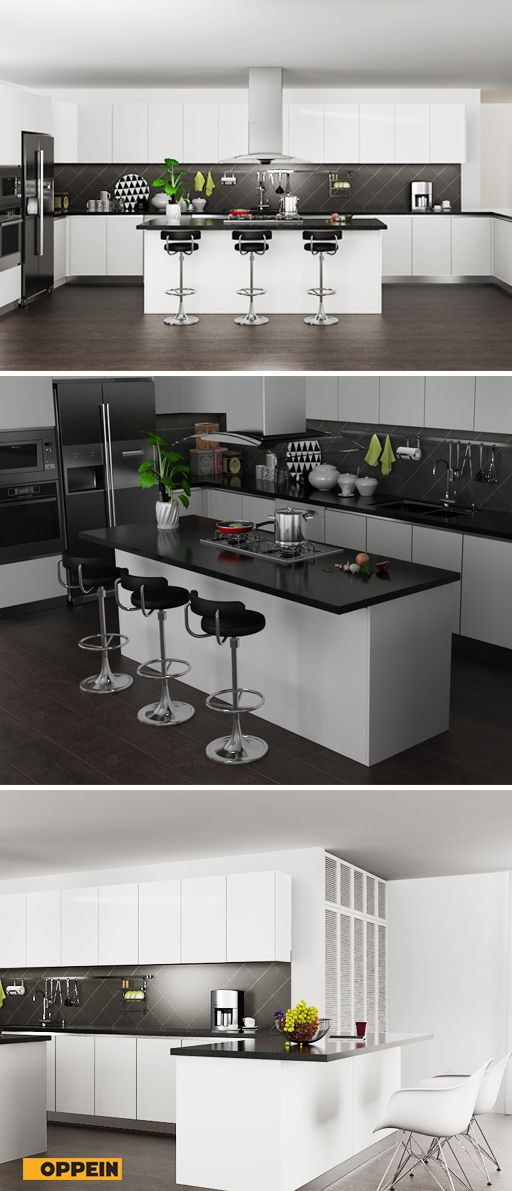 Pvc Kitchen Cabinets Contemporary High Gloss White PVC Kitchen Cabi| Kitchen design