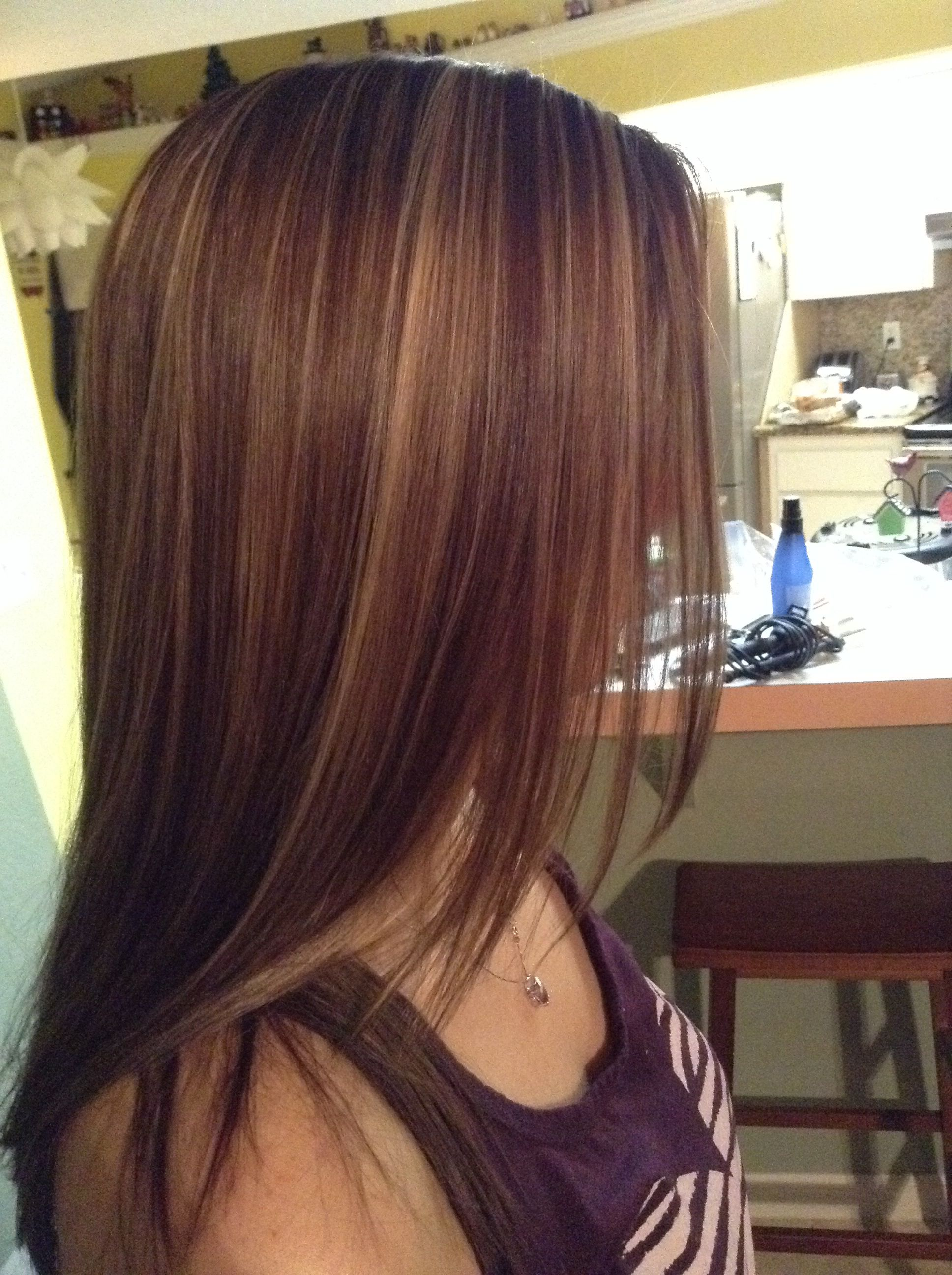 Medium auburn with highlights | Hair