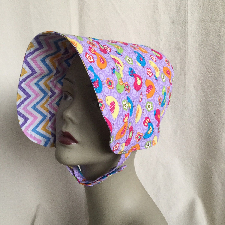 Toddler Sun Hat - BONNET - Sun Hat - Reversible Bonnet - Polka Dot Bonnet - Pink and White by 4PennyGirl on Etsy