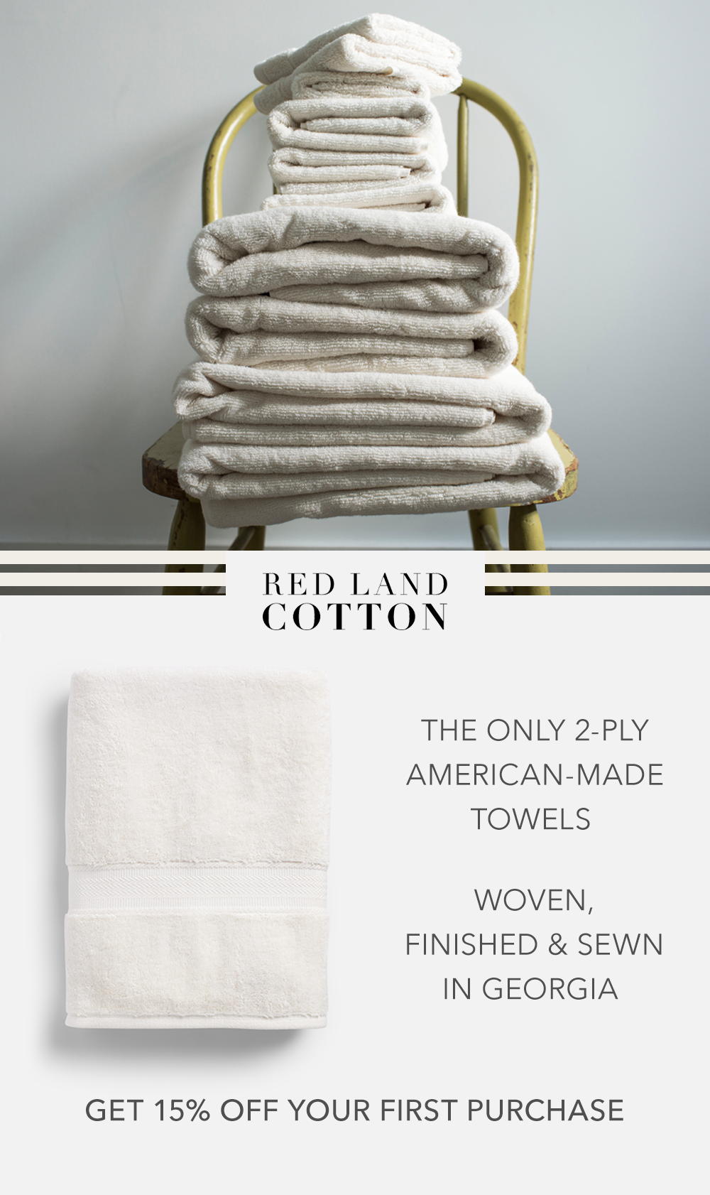 100 American Made Cotton Bath Towels Home Library Rooms Diy