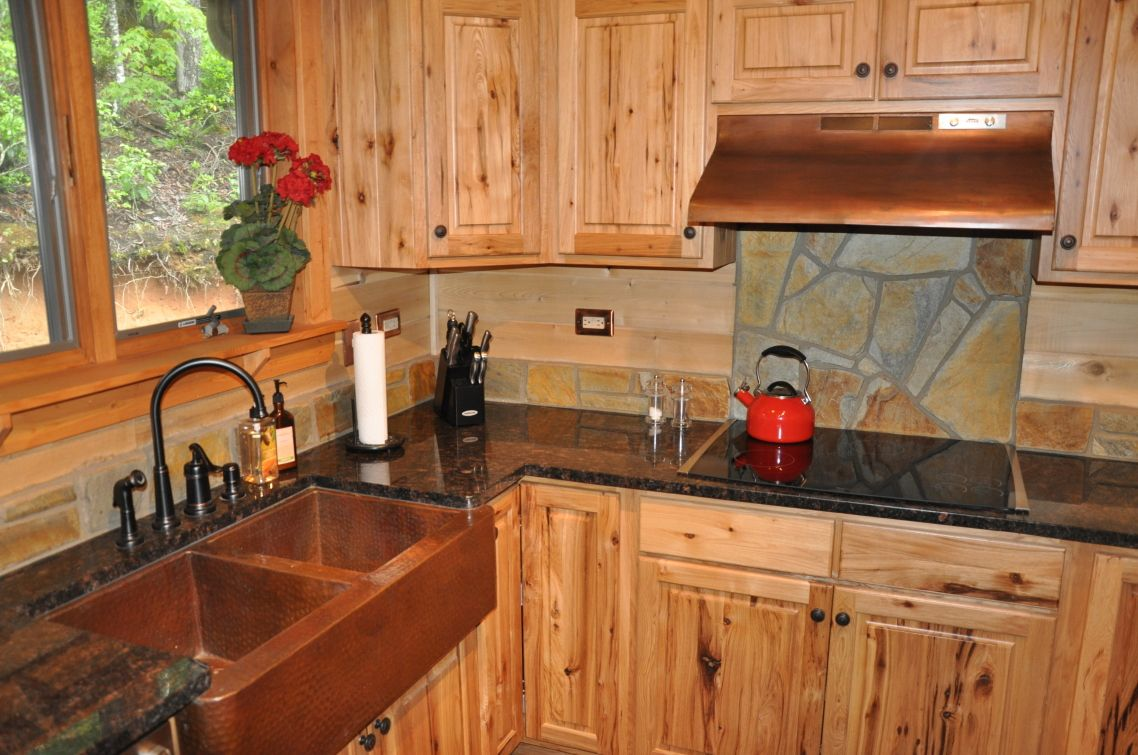 dark wood countertops rustic kitchen interior wood countertops rh pinterest es