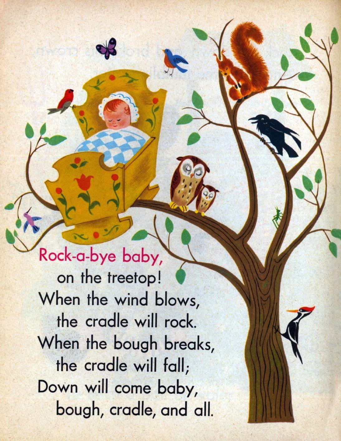 Rock A Bye Baby By Aurelius Battaglia Ilration Meaning Nursery