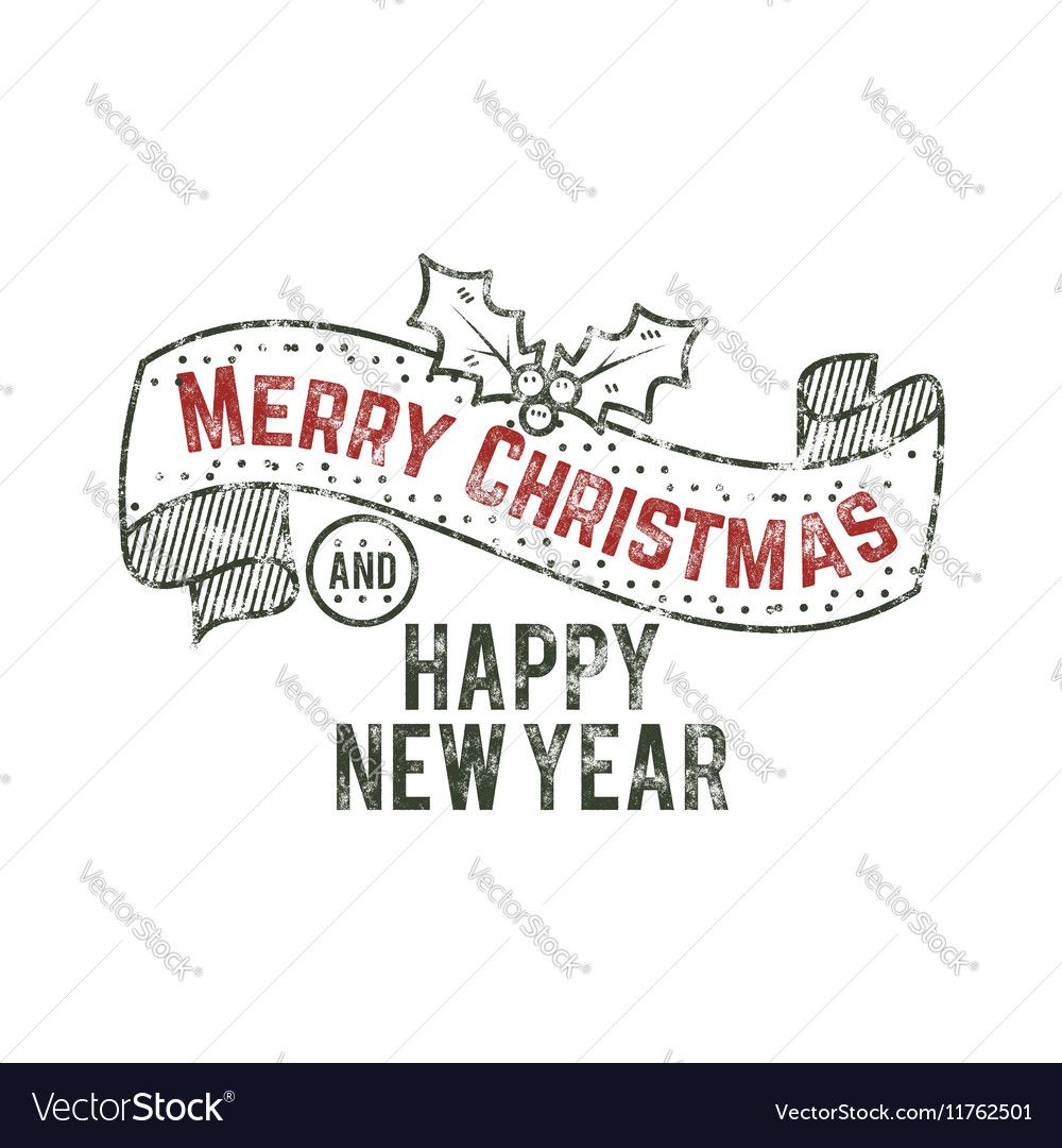 Merry Christmas and happy New Year typography wish , Ad