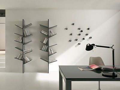 tree bookshelf, unconventional book case,