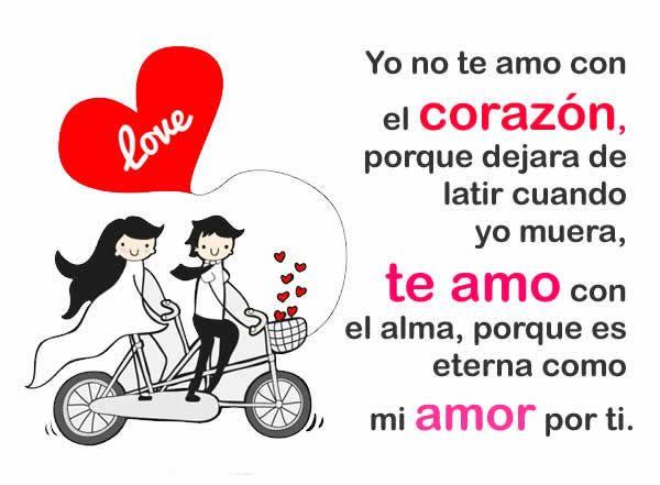 Frases del corazón: Yo no te amo con el corazón, porque dejara de ...