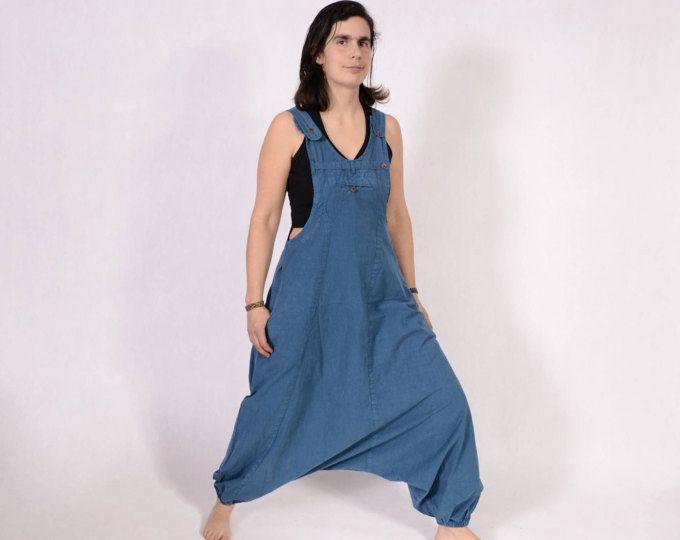 5962bda5039 Harem pants jumpsuit - Overalls - Women - loose jumpsuit - dungarees -  Trance Jumpsuit -