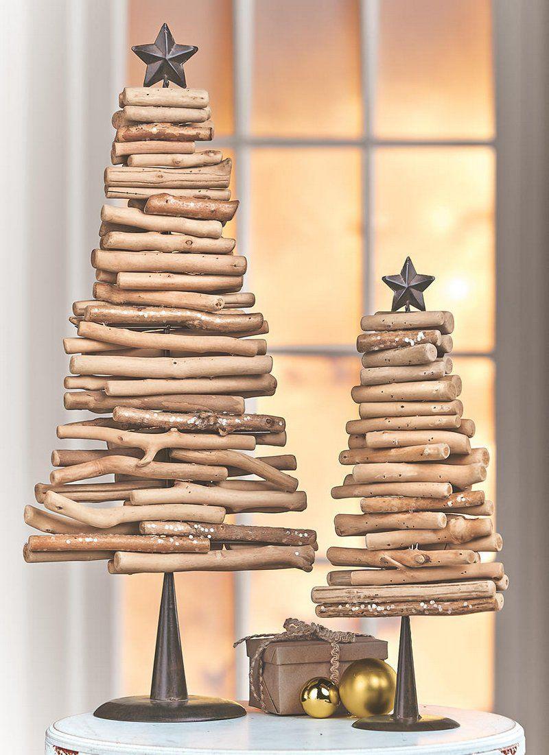 Sapin en bois flotté à faire soimême 50 sapins de Noël