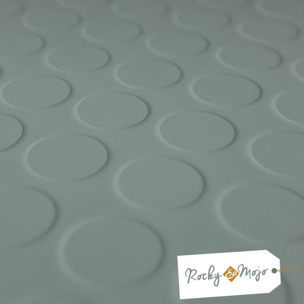 Sea Green Round Stud Rubber Flooring Tiles Rocky Mojo Home