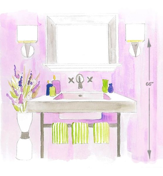 """Bathroom Lighting Measurements home decor: key measurements for every home 