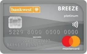 breeze platinum mastercard credit card bank west credit card rh pinterest com