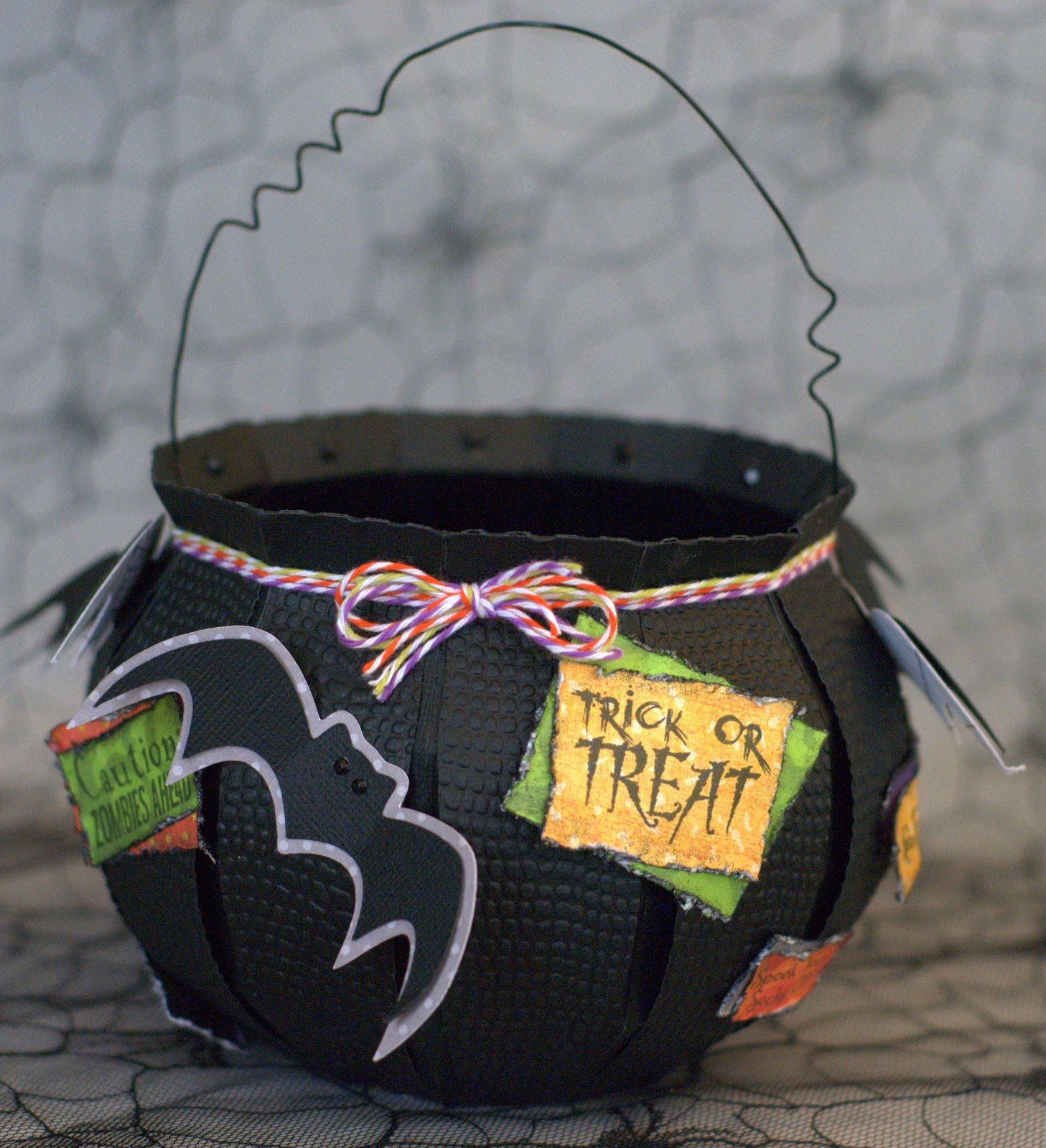 Love how Cheryl embellished the Cauldron from our PARTY ON ELM STREET SVG KIT.  Time to fill it up with candy!!!