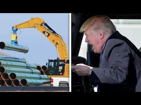 Trump Hitting The Gas On Keystone XL Pipeline - YouTube