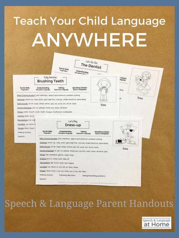 speech and language parent handouts speech language therapy blog rh pinterest com