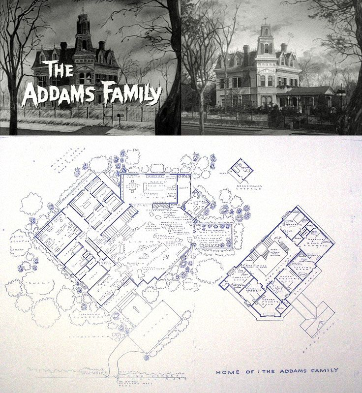 The Addams Family home at 0001 Cemetery