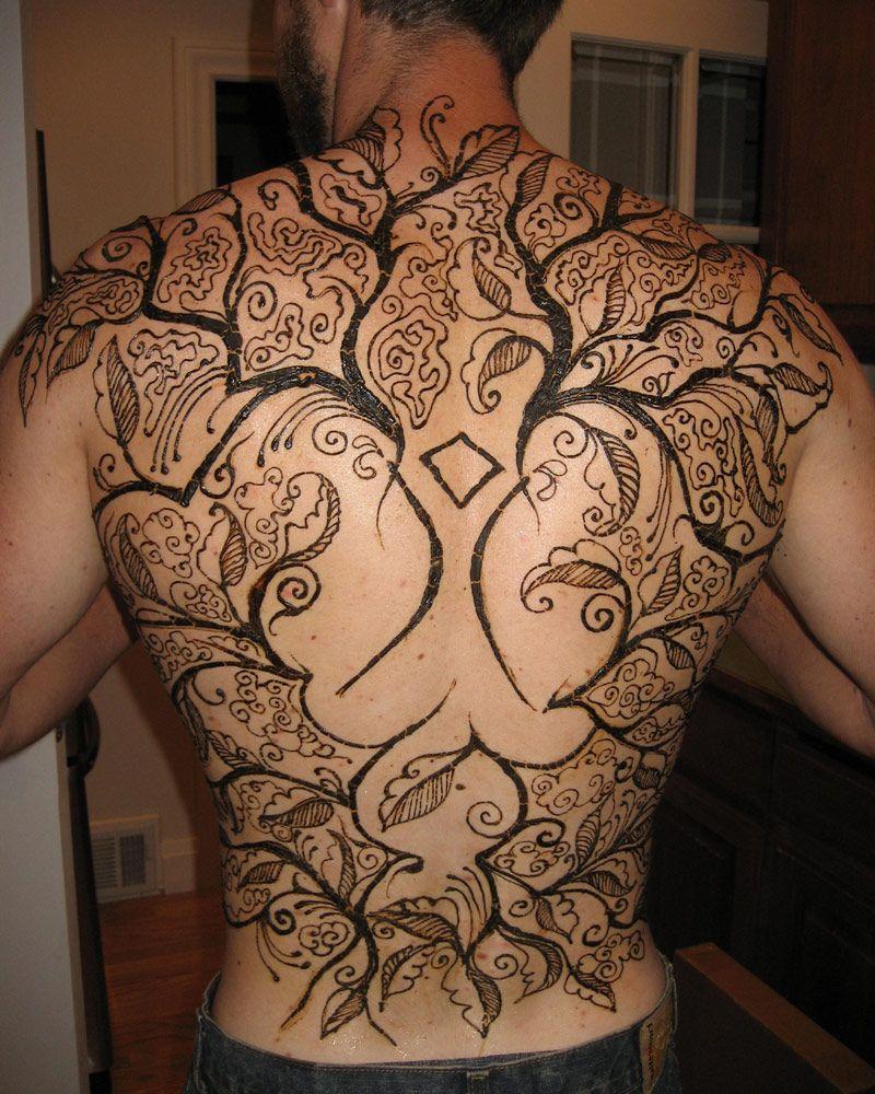 Mehndi Tattoo Man : Full back tattoo ideas for men best design on