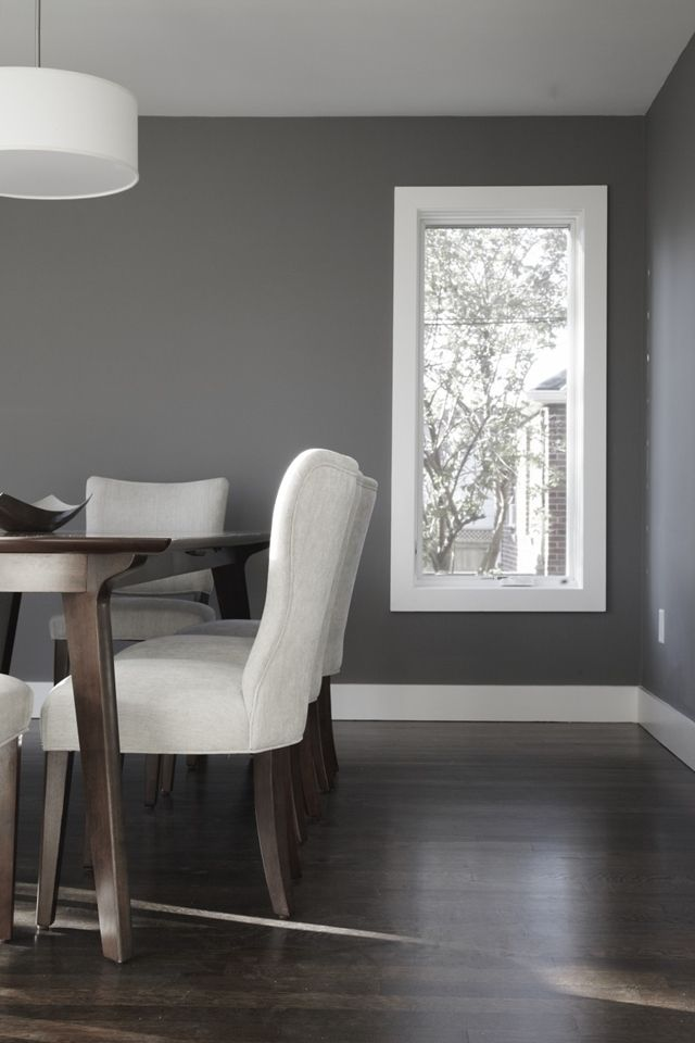 Dining room in small modern home with