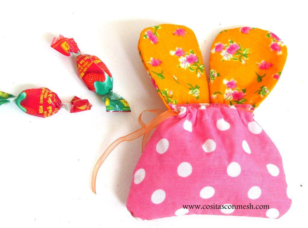 Manualidades para la pascua bolsitas de dulces la pascua - Bolsas de tela manualidades ...
