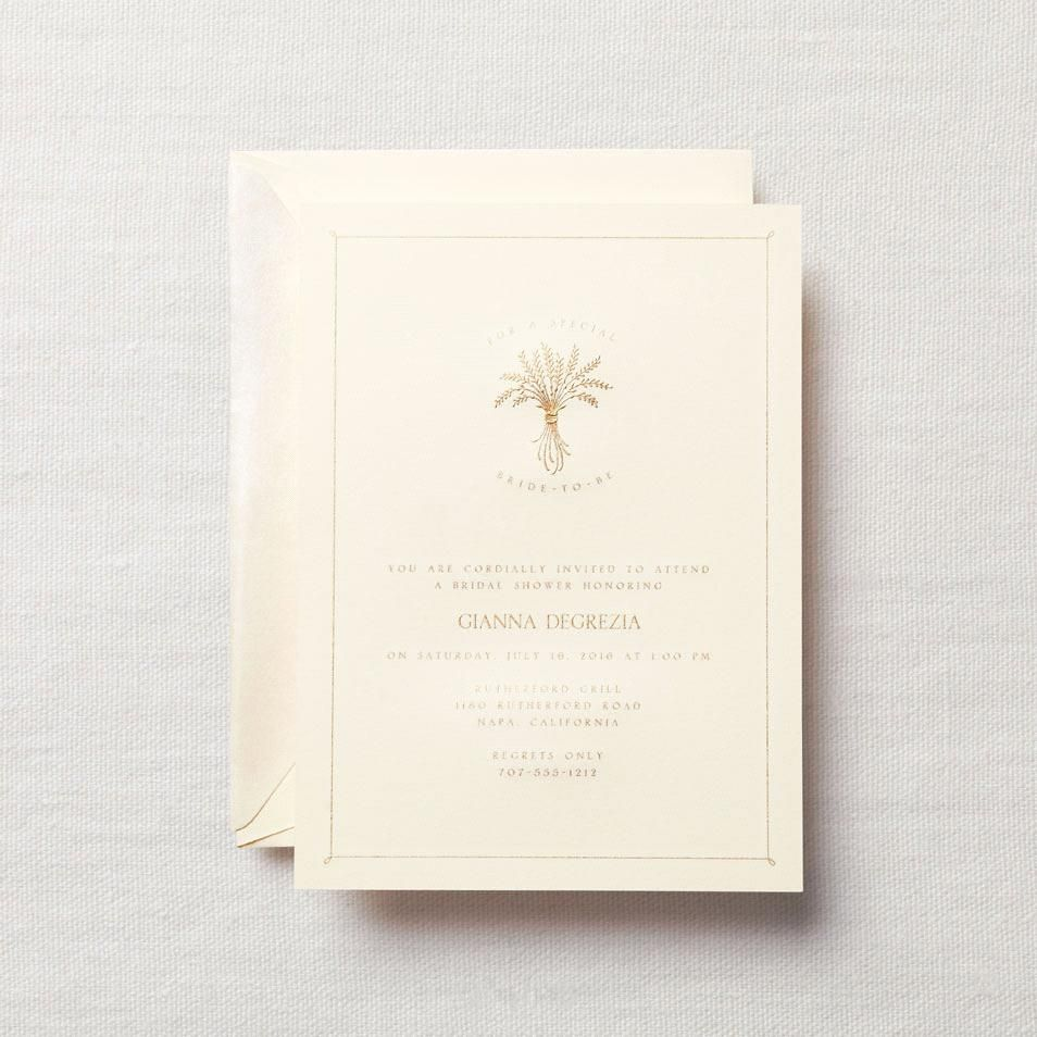 Personalized Hand Engraved Shower Invitation with Frame