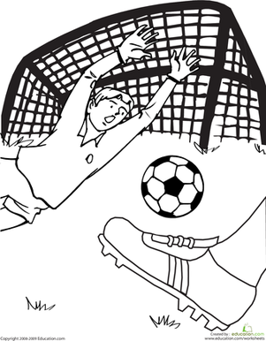 soccer game coloring page sports themed learning resources rh pinterest com