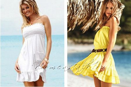 cf393b417eb Как сшить пляжное платье самим быстро и просто. Часть 3