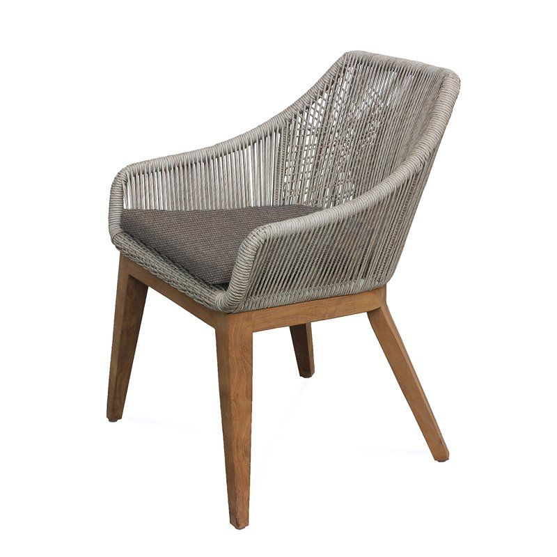 Judith Patio Dining Chair With Cushions Patio Dining Chairs Wooden Outdoor Furniture Teak Chaise Lounge