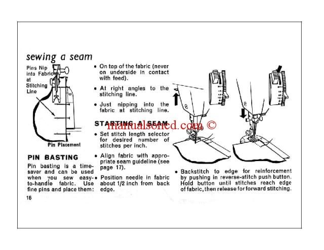 Singer 353-354 Sewing Machine Manual Includes Threading your - instruction manual