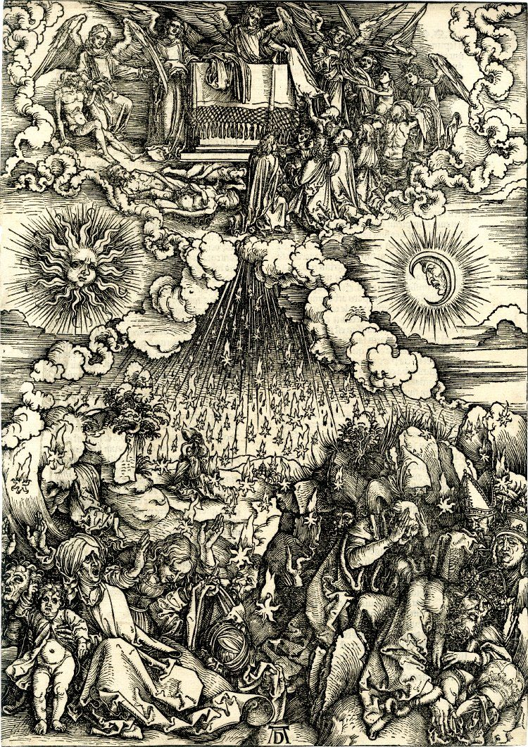 """The opening of the fifth and sixth seals"" (1497-1498) - Albrecht Dürer  (1471-1528) Apocalypse"
