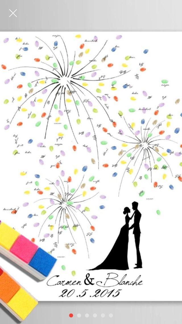 diy wedding canvas fingerprints guestbook hochzeit leinwand fingerabdrcke gstebuch