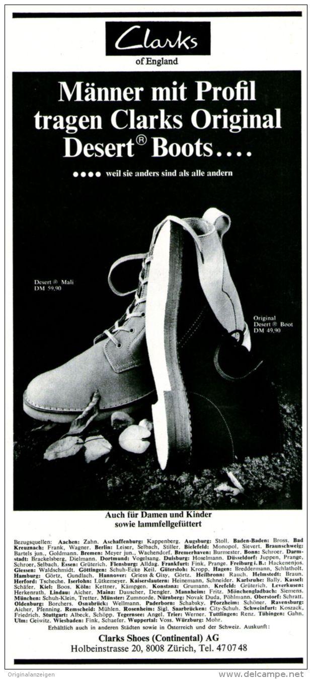 premium selection 576ec 24a5e Original-Werbung/ Anzeige 1969 - SCHUHE : CLARKS ORIGINAL ...