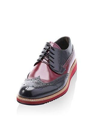 Eskina Zapatos derby Bicolor (Negro / Granate)