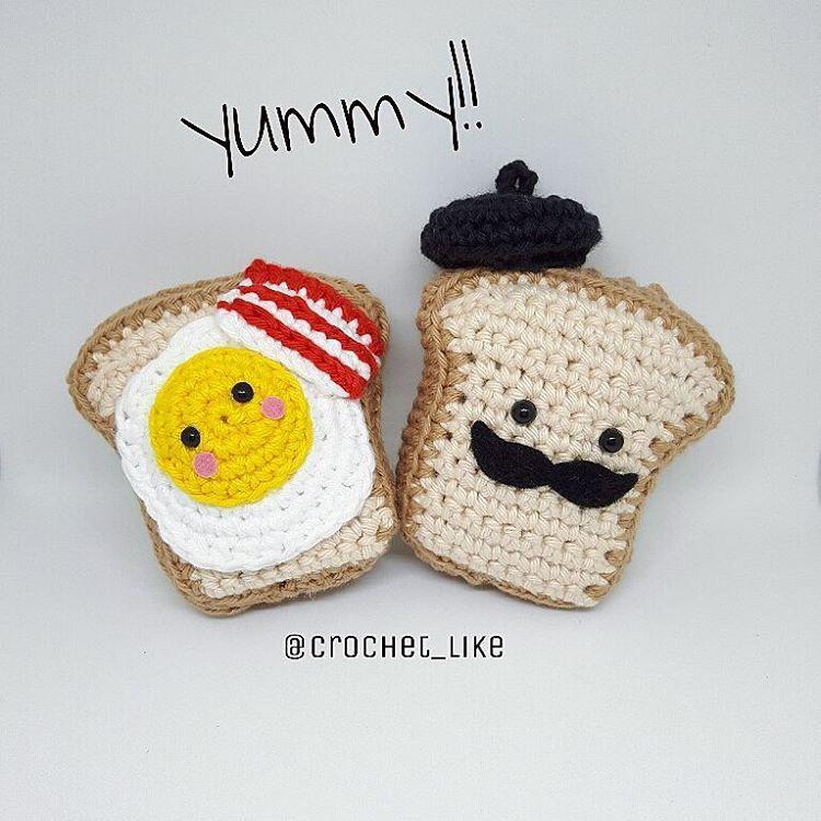 Kawaii!! My toast #frenchtoast #toast #crochetaddicted #crocheter ...