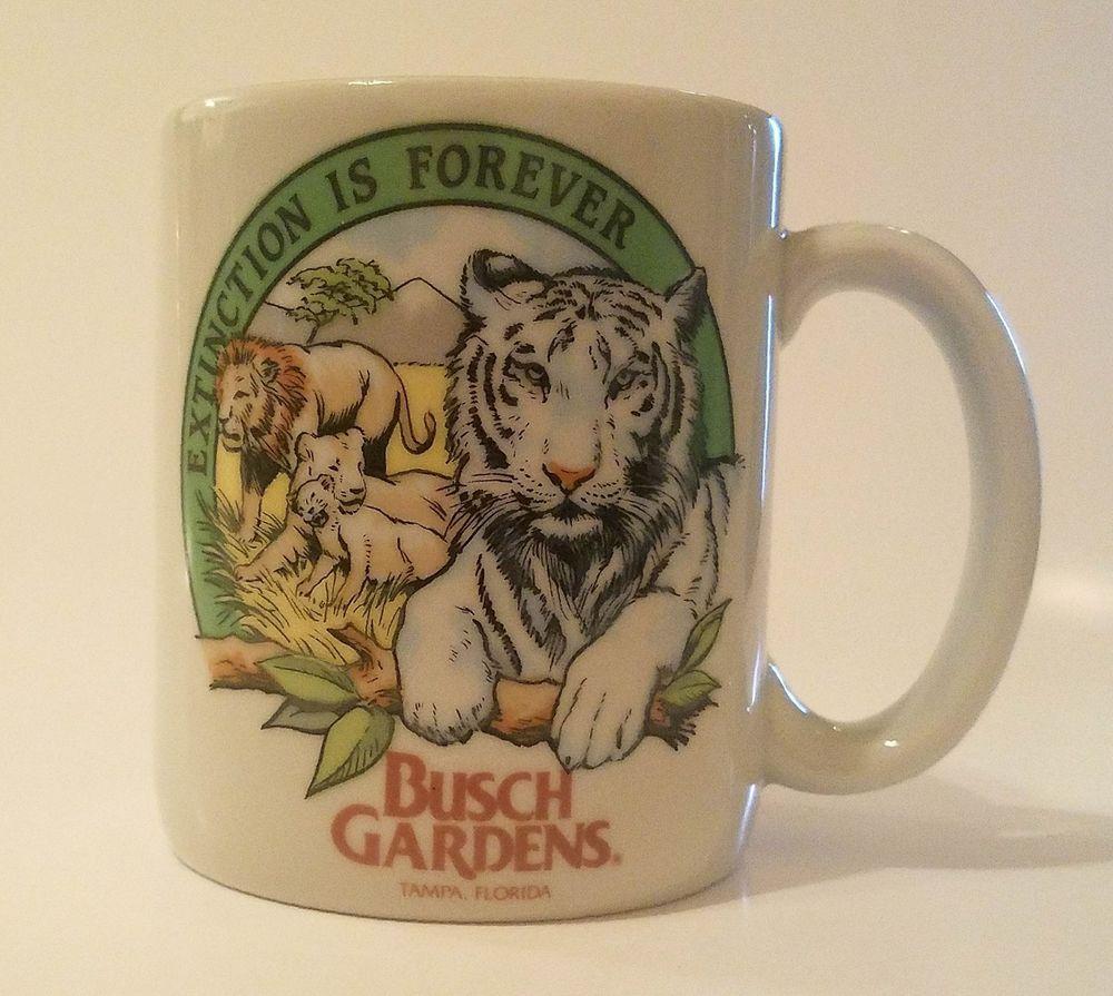 Extinction Is Forever Busch Gardens Tiger Mug Home