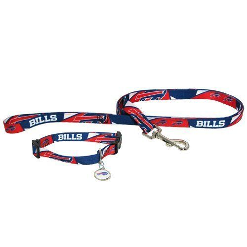 Buffalo Bills Pet Set Dog Leash Collar Id Tag Small Want To