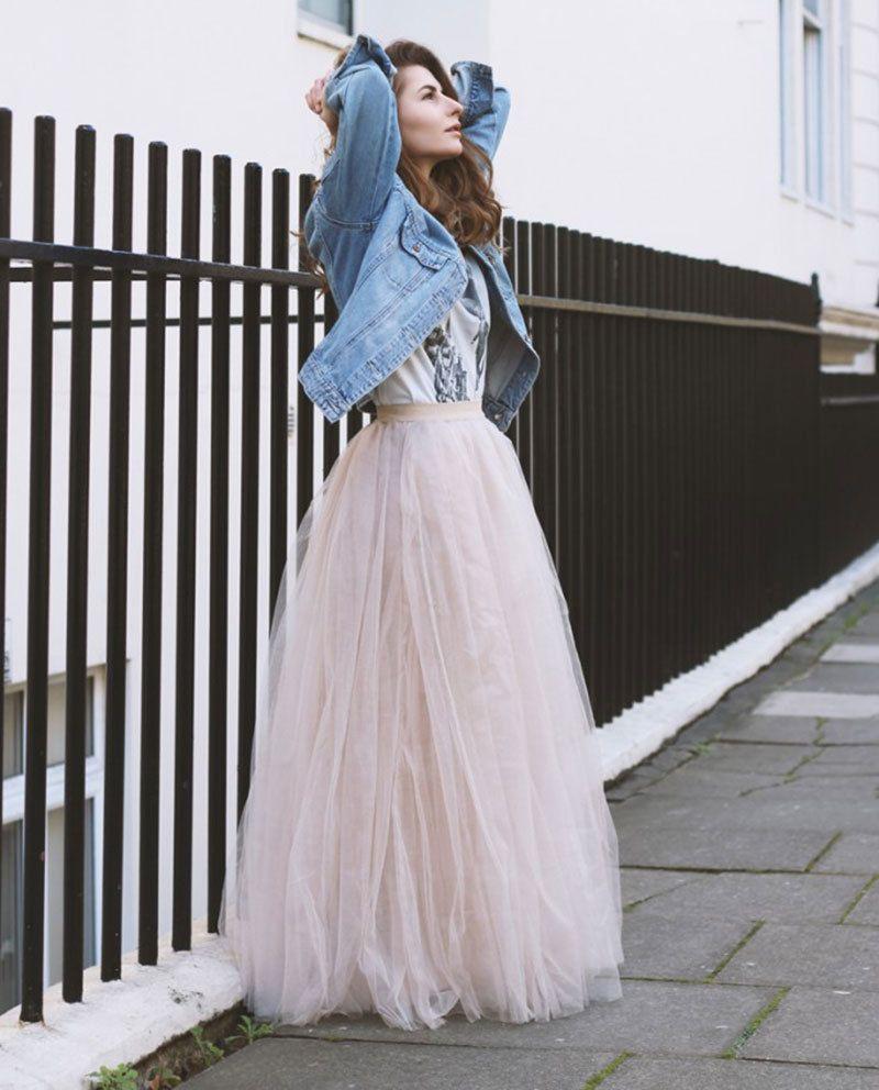 856a46090da 6 Layers 100Cm Long Women Tulle Skirts Wedding Bridal Skirt Ball Gown Tutu  Skirt